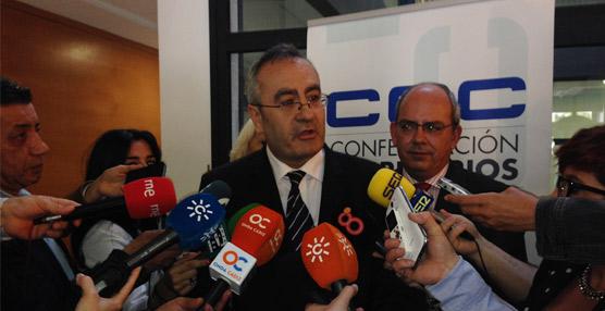 El presidente de Puertos del Estado, José Llorca, ante los medios que acudieron a la Jornada. Foto Puertos del Estado.