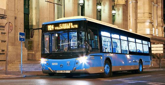 La EMT de Madrid establece cambios en el servicio de todas las líneas nocturnas por la Copa del Rey.