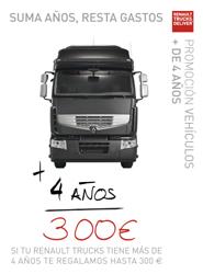 El cartel de la nueva promoción de Renault Trucks.
