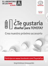 Toyota España invita a los diseñadores a desarrollar los accesorios del futuro en el concurso 'El laboratorio de los fans'