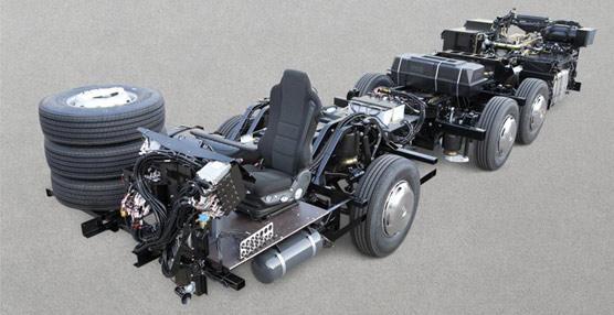 Chasis OC 500 RF de Mercedes-Benz. Foto MB.