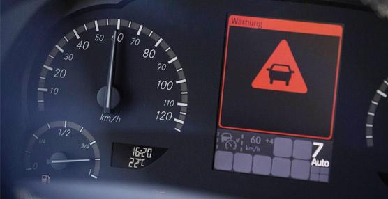 El Active Brake Assist 3 en el Mercedes-Benz Travego reacciona ahora también ante obstáculos estáticos