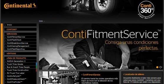 Continental estrena página web para Conti360° Fleet Services, su oferta 'full service' para flotas de camiones