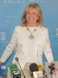 Alcaldesa de Marbella, Ángeles Muñoz.