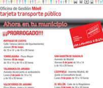 La oficina móvil del Consorcio de Transportes de Madrid repite recorrido en la sierra para obtener la Tarjeta de Transporte Público