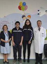 FedEx inaugura una sala de espera y su pasillo de acceso en el área de Pediatría del Hospital de Cruces en Bilbao.