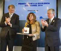 Tipsa recibe el premio AEDHE a la Excelencia Empresarial como Empresa del Año en la edición 2014