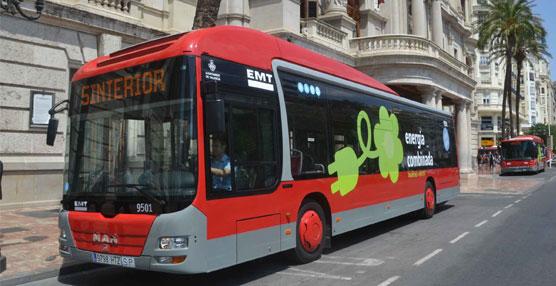 EMT Valencia estrena dos autobuses híbridos subvencionados por la Unión Europea en la flota de la ciudad
