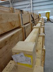 La división DSV Air & Sea realiza una serie de envíos urgentes de tubos de acero de hasta 12 metros de diámetro