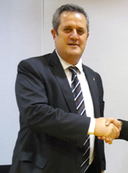El presidente de TMB, Joaquín Forns.