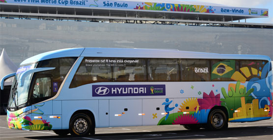 Continental suministra los neumáticos ContiGol de tercera generación para los autobuses de los equipos del Mundial