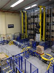 El nuevo sistema de almacenaje y picking automático de ICP Logística se implanta en la sede de Meco 2