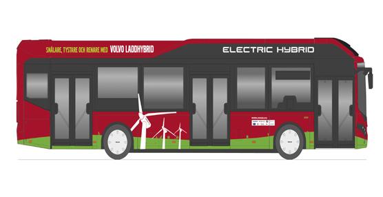 Ocho autobuses híbridos de Volvo Busesfuncionarán en el centro deEstocolmo en el marco del proyecto europeo ZeUS
