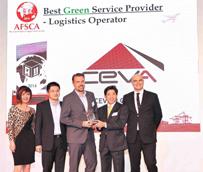 CEVA recibe el premio Best Green Logistics Operator en los Asian Freight and Supply Chain Awards 2014