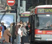 El número de usuarios del transporte público disminuye un 2,0% en mayo respecto al mismo mes del año anterior