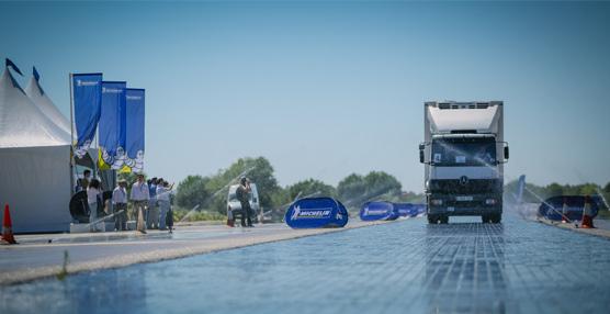 Michelin celebra un evento 'sin precedentes' en el Inta para demostrar las ventajas de sus neumáticos