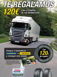 Goodyear Dunlop regala a sus clientes hasta 120 euros con la compra de neumáticos de camión