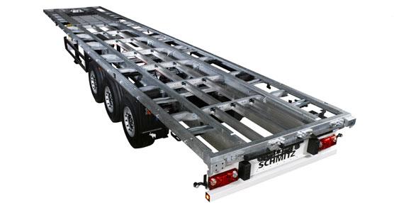 Schmitz Cargobull desarrolla un nuevo chasis modular que se distingue por tener un perfil laminado