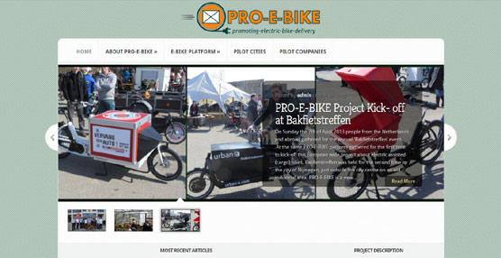 Pro-e-bike, el proyecto que quiere implantar un nuevo sistema de transporte urbano con bicicletas