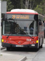 Autobús de Zaragoza.