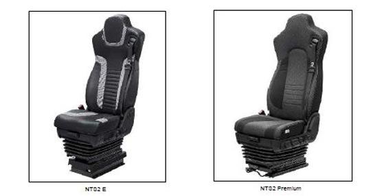 Isri presentará los modelos de su nueva gama de butacas de conductor NTS2, que sustituye a la gama NTS