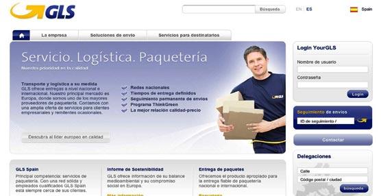 La empresa de paquetería GLS Spain presenta su nueva web, con cambiosde diseño y estructuray más contenido