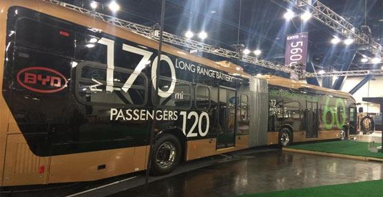 BYD Motors presenta el autobus eléctrico más largo del mundo en Estados Unidos