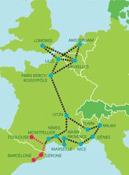 Moventis e iDBUS inauguran una nueva ruta diaria entre Toulouse y Barcelona