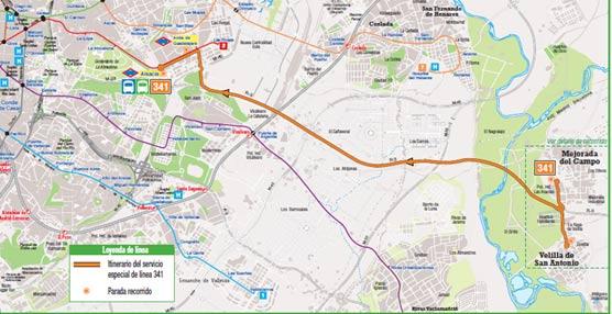 Un servicio exprés de autobús unirá Velilla de San Antonio y Mejorada del Campo con Madrid