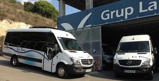 Grup La Pau adquiere dos vehículos Mercedes-Benz carrozados por Integralia para rutas de transporte adaptado