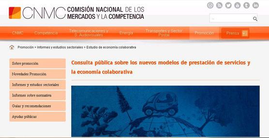 Competencia abre una consulta pública sobre los nuevos modelos de prestación de servicios y la economía colaborativa