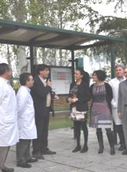 El Hospital Infanta Elena de Huelva cuenta con la primera marquesina adaptada a personas con discapacidad