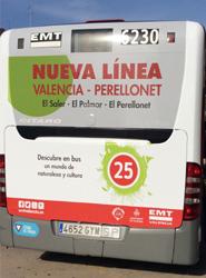 Una nueva línea de la EMT unirá los barrios del sur de Valencia