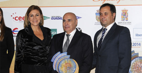Alberto García de Castro y Javier Vázquez fueron los encargados de recoger el premio.