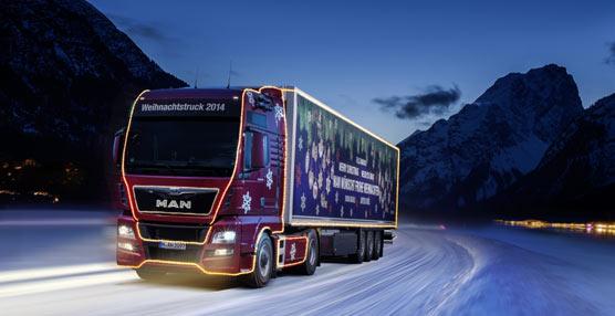 El camión navideño de MAN quiere iluminar la mirada de los más pequeños con visitas a guarderías y mercados