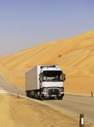 Renault Trucks C en los Emiratos Árabes Unidos.