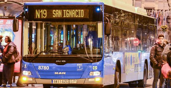 Los autobuses diurnos de la EMT de Madrid finalizan antes su servicio en Nochebuena y Nochevieja