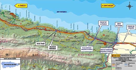 El Ministerio de Fomento finaliza la autovía A-8 en Asturias con la puesta en servicio del último subtramo Unquera-La Franca