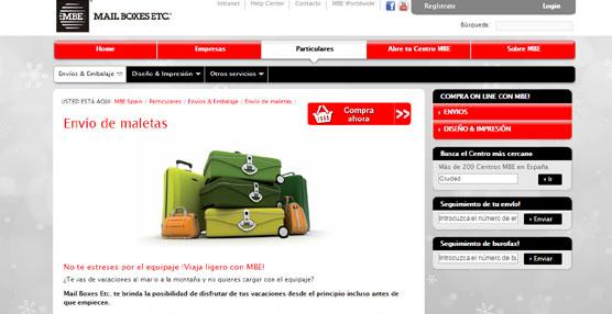 Mail Boxes Etc. refuerza por estas fechas el servicio 'Envío de Maletas' dado el incremento en su demanda