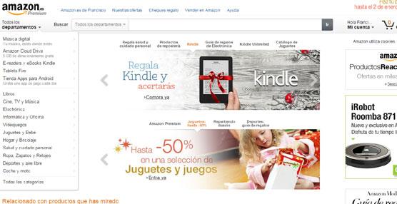 El 16 de diciembre fue el día de más ventas en la historia de Amazon.es con más de 180.000 pedidos