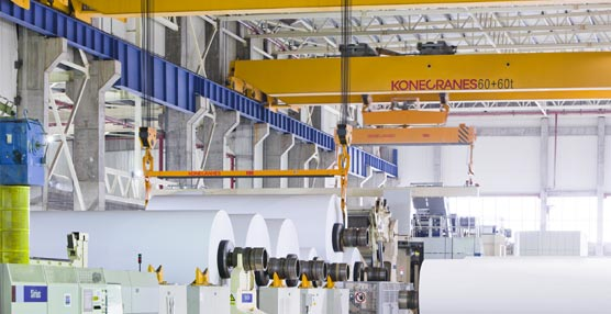 Konecranes cubre todos los procesos industriales de la pasta y el papel con sus soluciones de elevación