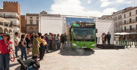 Cáceres incorpora a su flota de autobuses urbanos cinco vehículos nuevos
