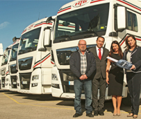 La empresa Hermanos Bordes renueva completamente su flota con 20 nuevas tractoras TGX Euro 6 de la alemana MAN