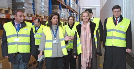 Visita de la consejera de Empleo y Economía de la JCCM a las instalaciones de Logiters