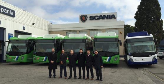 Scania entrega cinco unidades GNC a Argabús y Autobuses Urbanos de Arganda, operadoras integradas en el CRTM