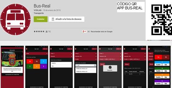 La alcaldesa de Ciudad Real, Rosa Romero, presenta 'bus-real', app con información de los autobuses urbanos