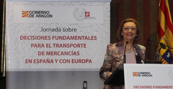 Rudi: 'La TCP es un proyecto que ofrece Aragón para hacer de España un centro logístico de referencia'