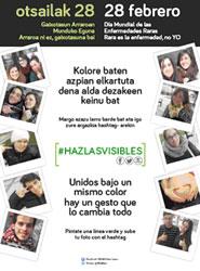 Dbus se suma al día mundial de las enfermedades raras y luce durante una jornada el cartel informativo