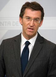 Alberto Núñez Feijóo, presidente de la Xunta de Galicia.