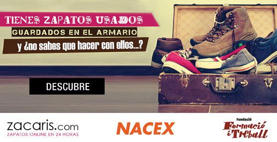 Éxito de la campaña solidaria de recogida de zapatos de NACEX y Zacaris.com destinada a la fundaciónFormació i Treball
